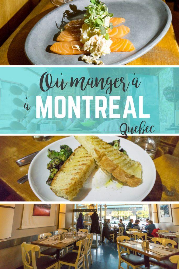 Où manger à Montréal, Québec, Canada pendant MTLàTable