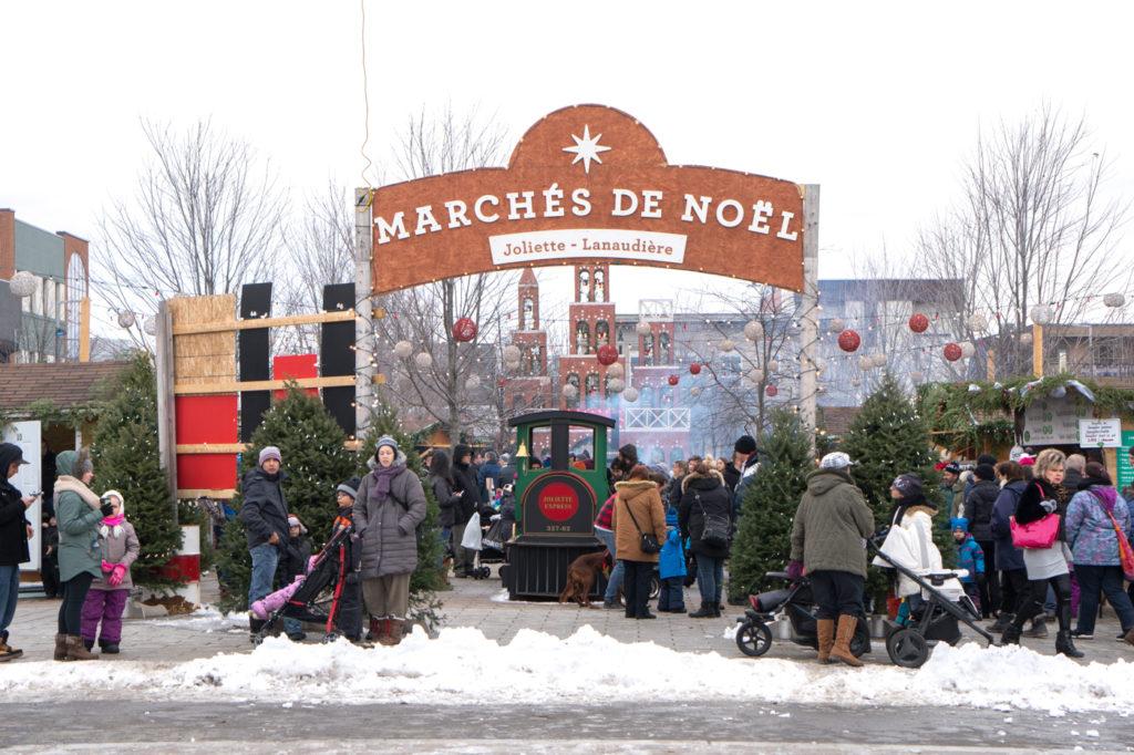 Entrée des marchés de Noël de Joliette Lanaudière
