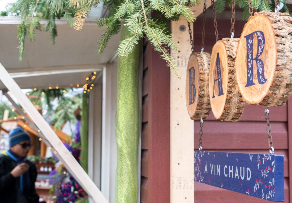 Bar à vin chaud - Gluhwein - Quoi boire dans les marchés de Noël au Québec