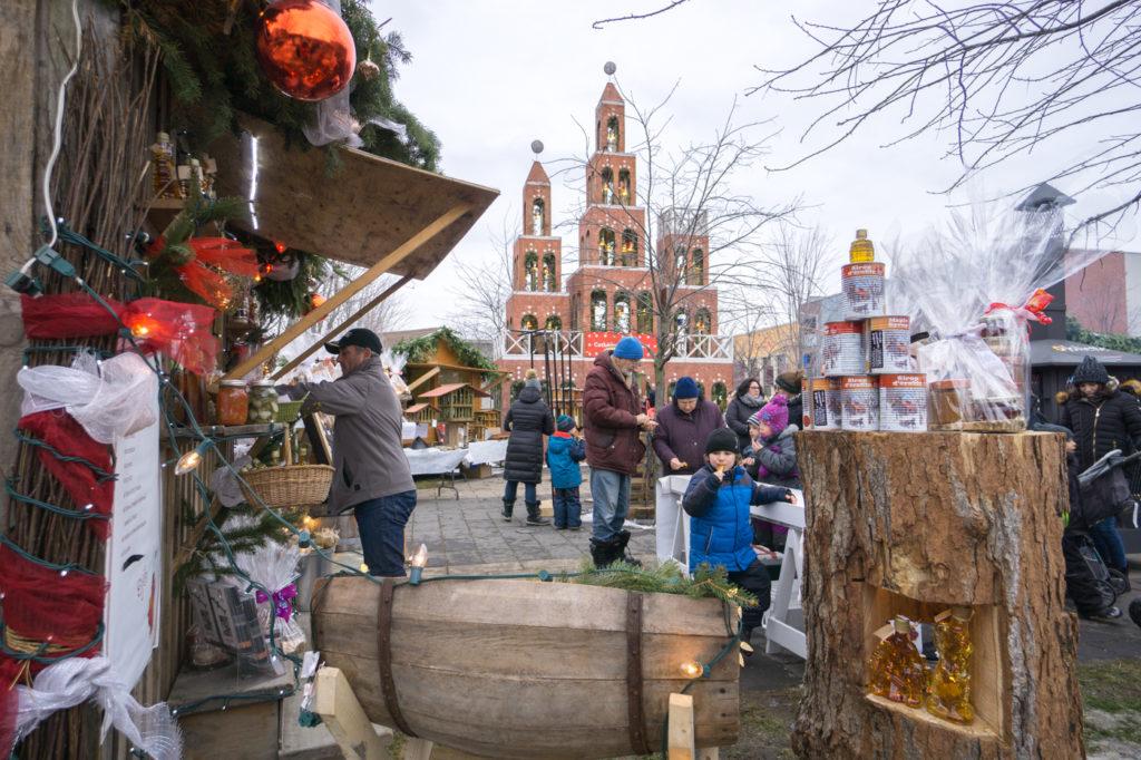 Marchés de Noël de Joliette - buche et entrée