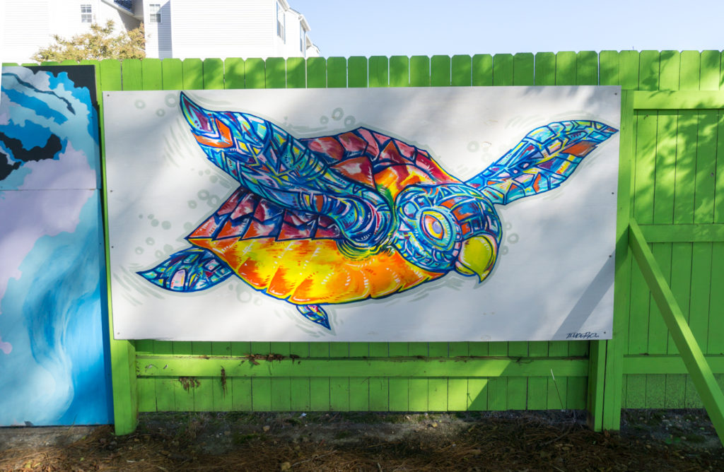Murale de tortue - Street art, Virginia Beach, États-Unis