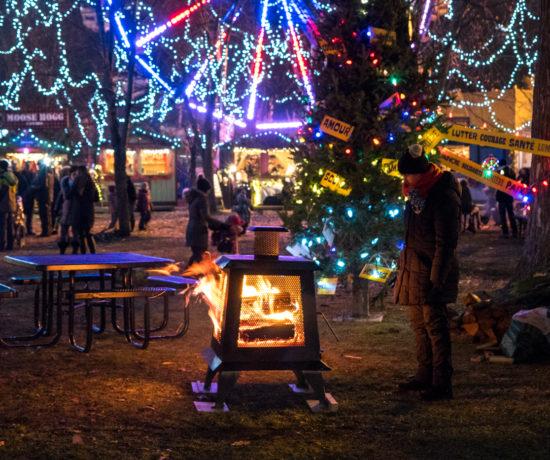 Marché de Noël de Terrebonne - Feu de bois et grande roue