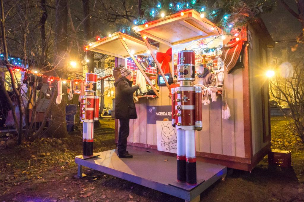 Marché de Noël de Terrebonne - maisonnettes et cabanes d'artisans