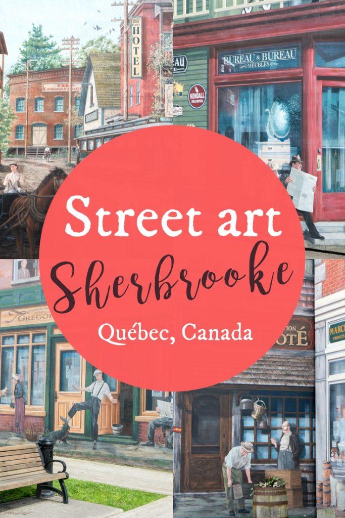Street art à Sherbrooke - Québec Canada