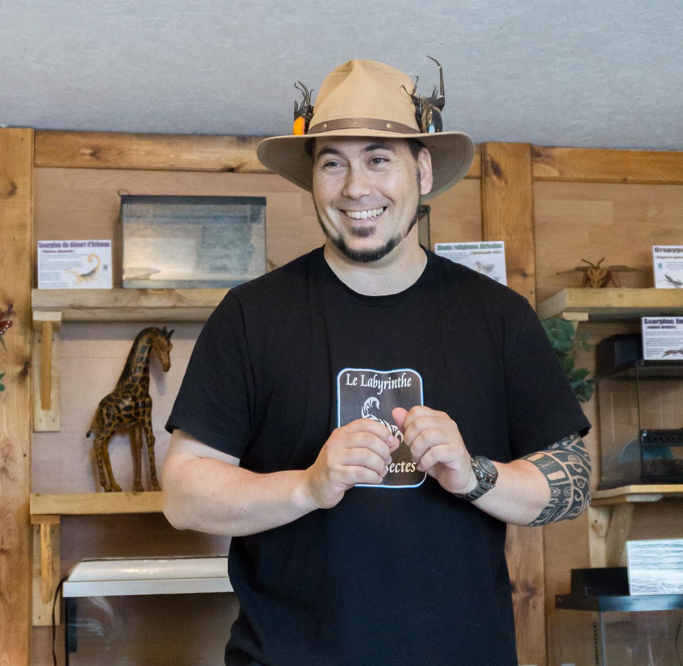 Tommy, propriétaire du Labyrinthe des insectes en Abitibi-Témiscamingue à Amos