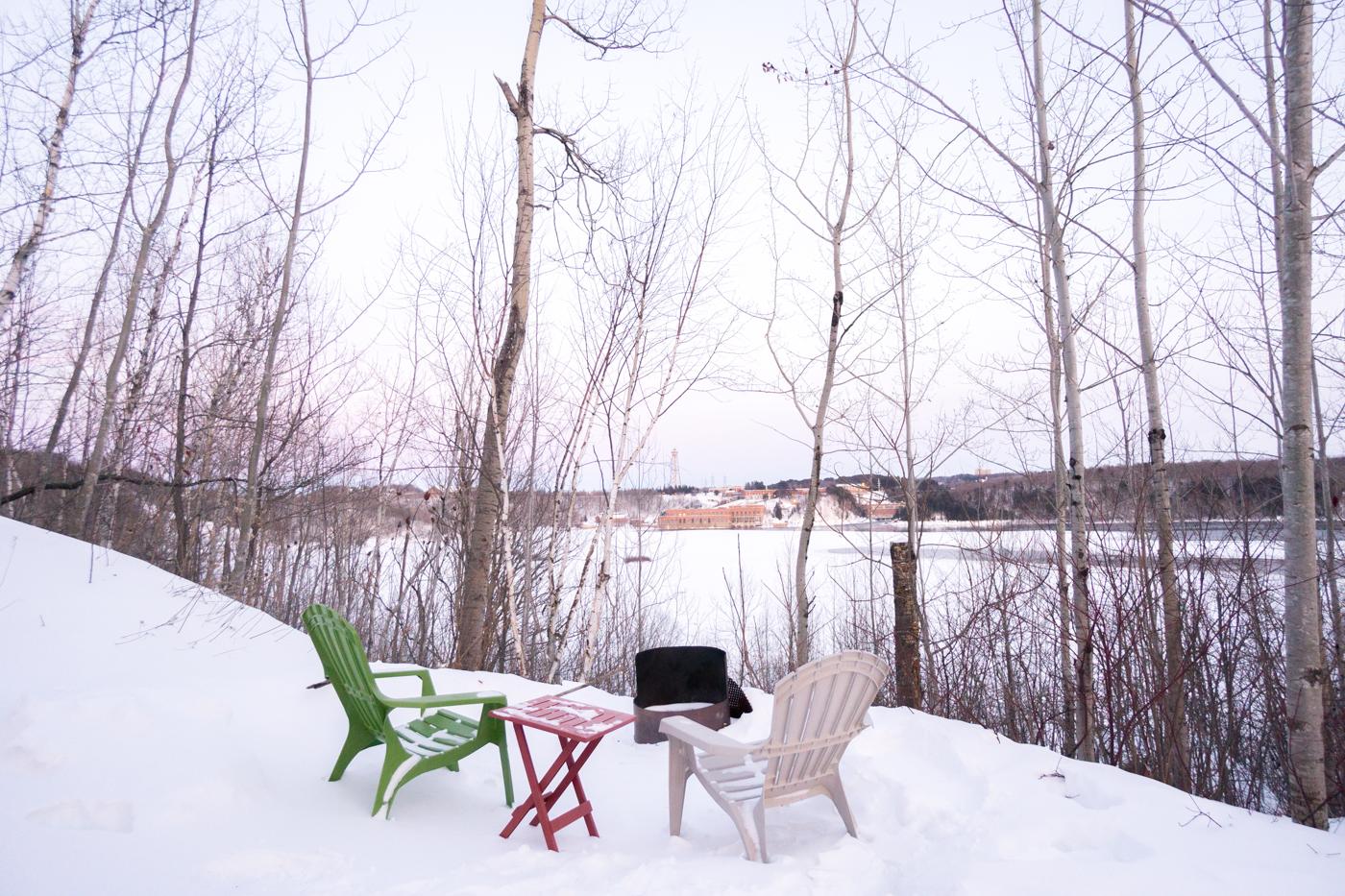 Vue du chalet Mère-Grand sur la Cité de l'Énergie - quoi faire au Québec en hiver