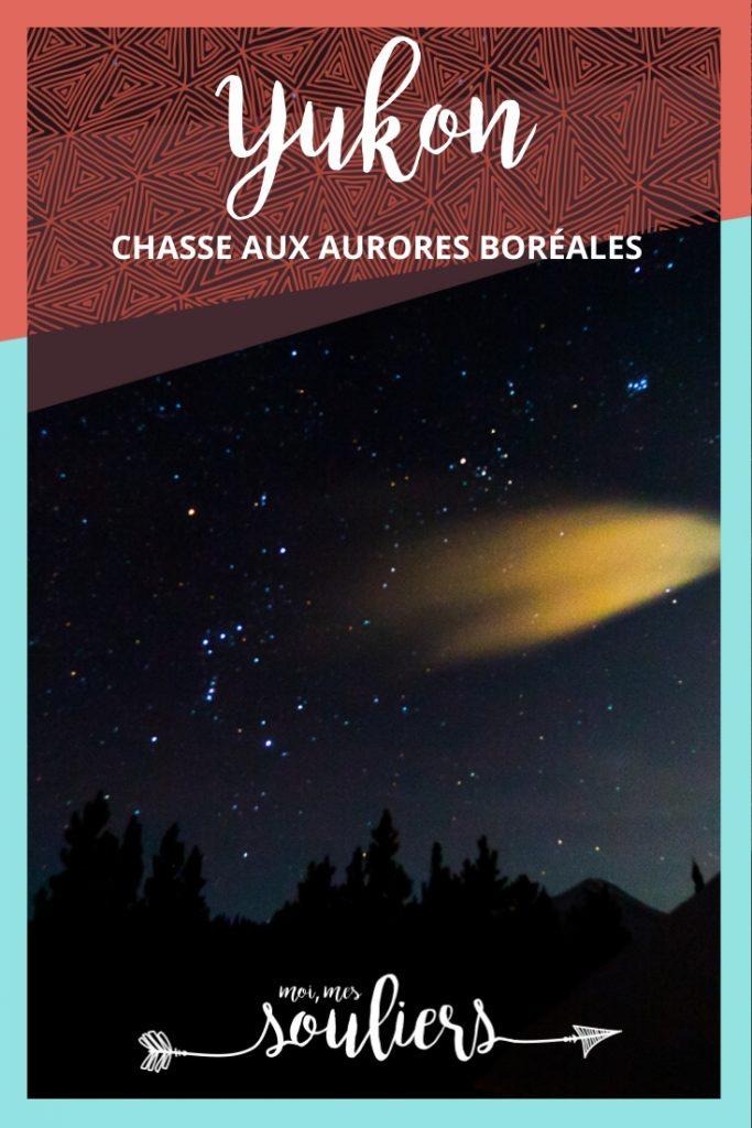 Chasse aux aurores boréales au Yukon