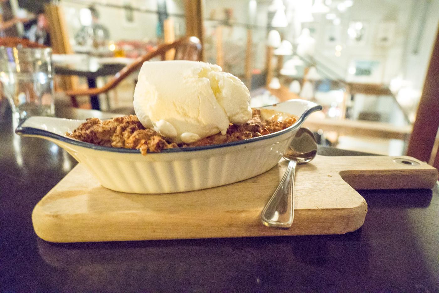 Croustade aux pommes en dessert - Où manger en Mauricie