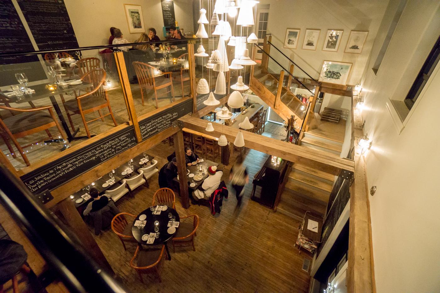 Intérieur du resto - Salle à manger du resto Zélé - où manger à Shawinigan