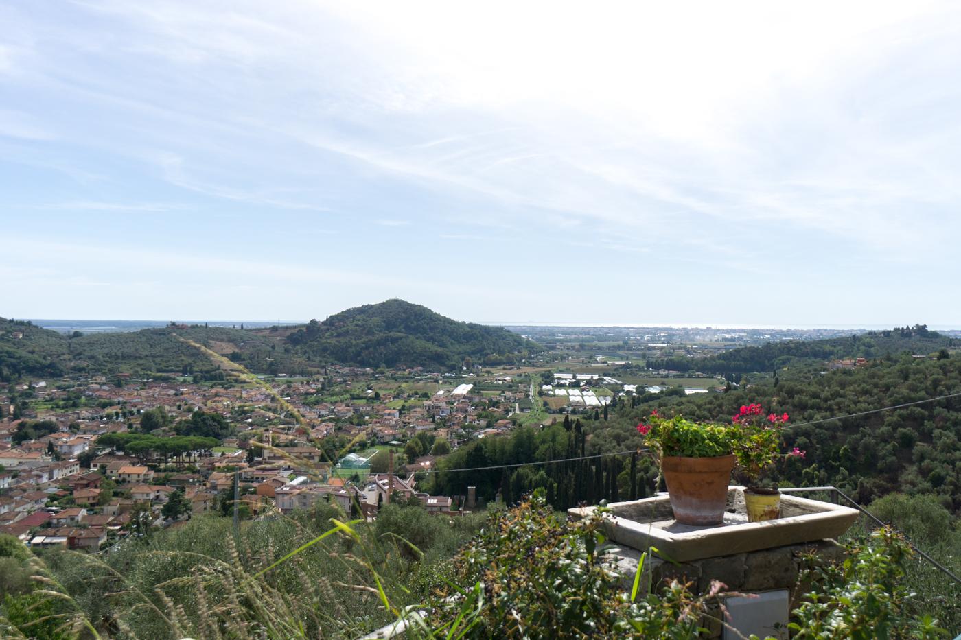 Vue de l'Azienda Agricola Della Mezzaluna - Où se loger en Toscane
