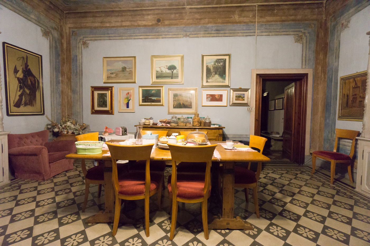 Salle à manger du Bed & Breakfast en Toscane