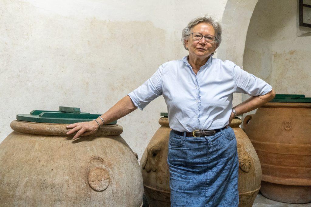 Anna, propriétaire du vignoble Cigliano dans le Chianti en Toscane