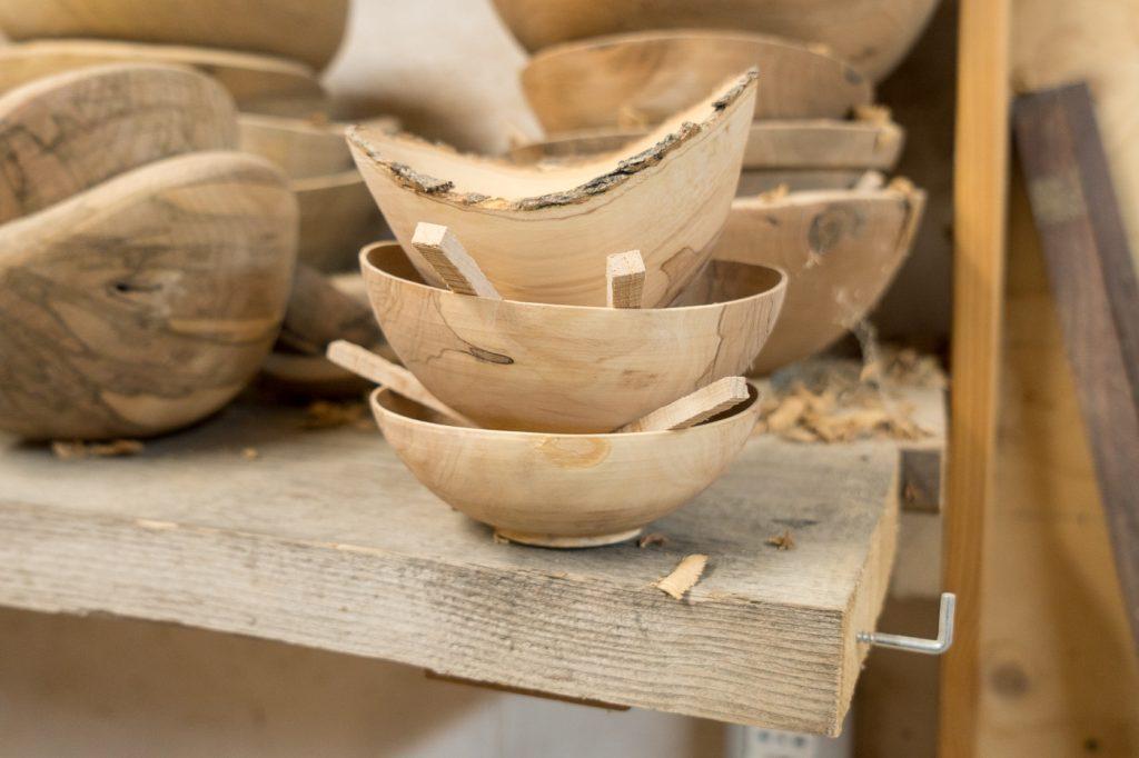 Bols de bois par Giorgio, artisan toscan