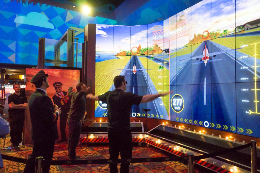 Animation de vol au casino Décollage immédiat