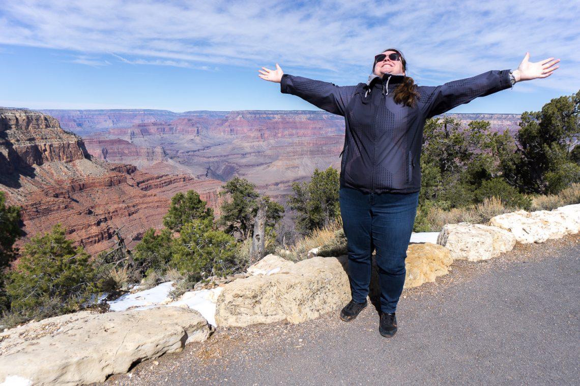 Jennifer en voyage au Grand Canyon en Arizona
