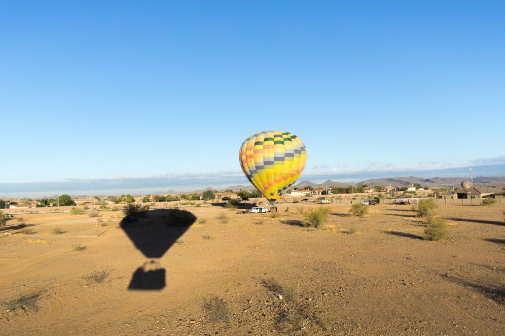 Montgolfière en voyage en Arizona