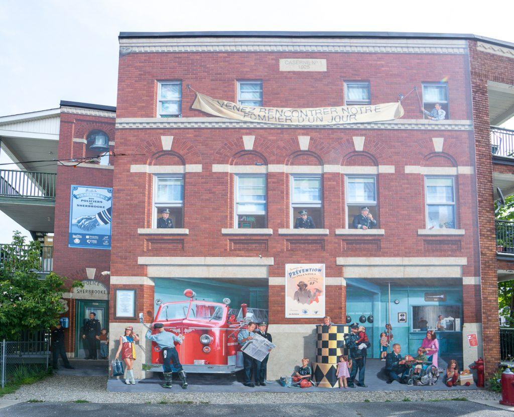 Murale des pompiers de Sherbrooke dans les Cantons-de-l'Est