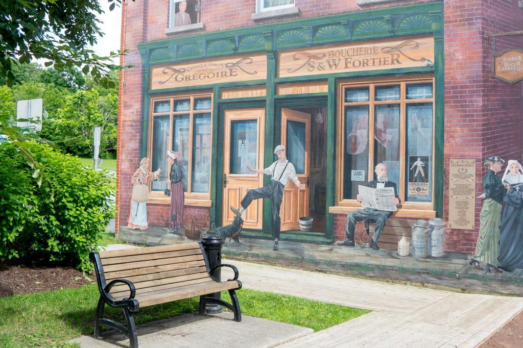 Murale/Street art et banc de parc - À faire à Sherbrooke