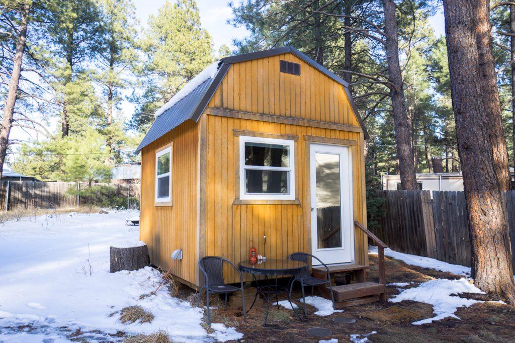 Petite cabane airbnb qu'on a loué à Flagstaff - Où dormir en Arizona?