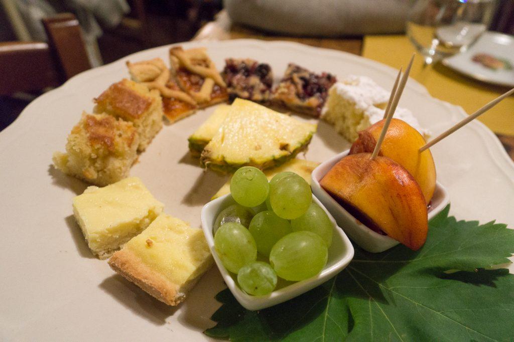 Plateau de dégustation de desserts - Où manger en Toscane - A Casa Mia
