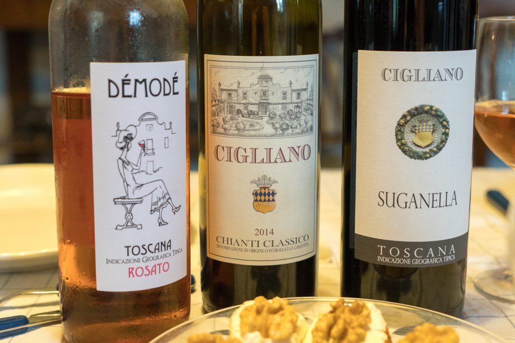 Vins de Cigliano en Toscane