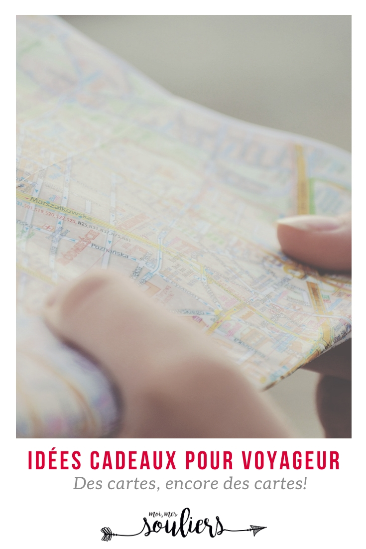 Idées cadeaux pour voyageurs cartes du monde