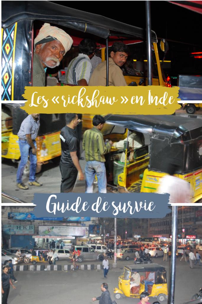 Survivre aux Rickshaw en Inde