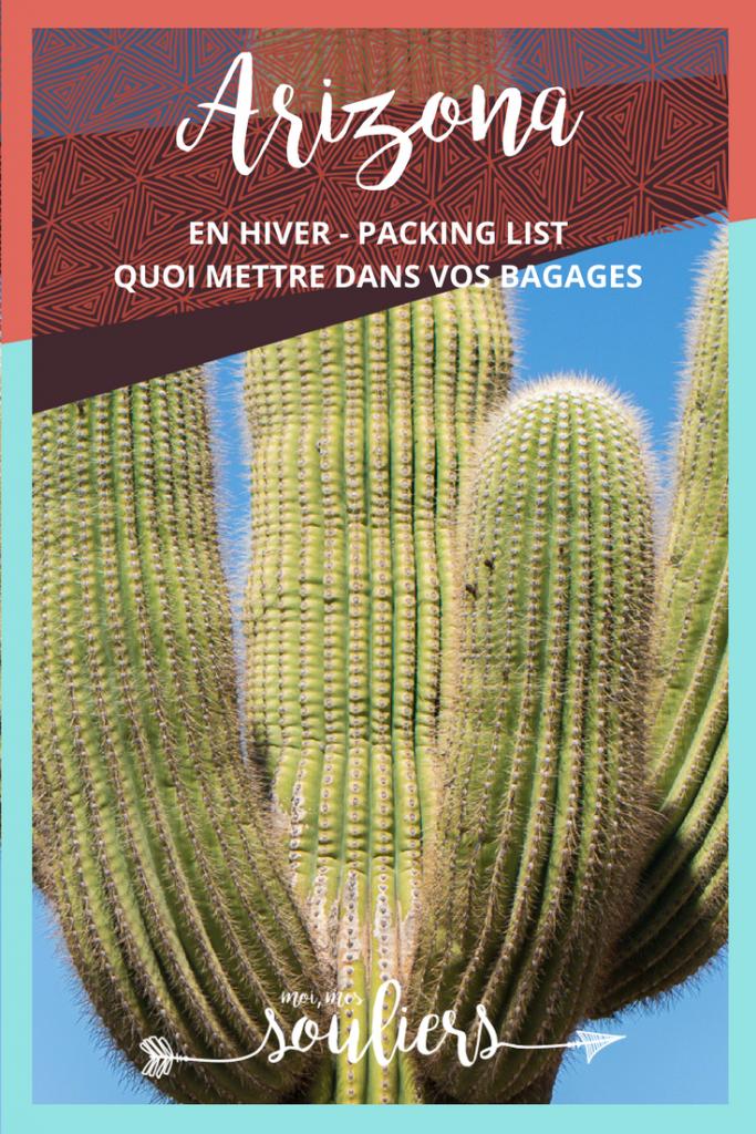 Packing list en Arizona - Quoi mettre dans vos bagages