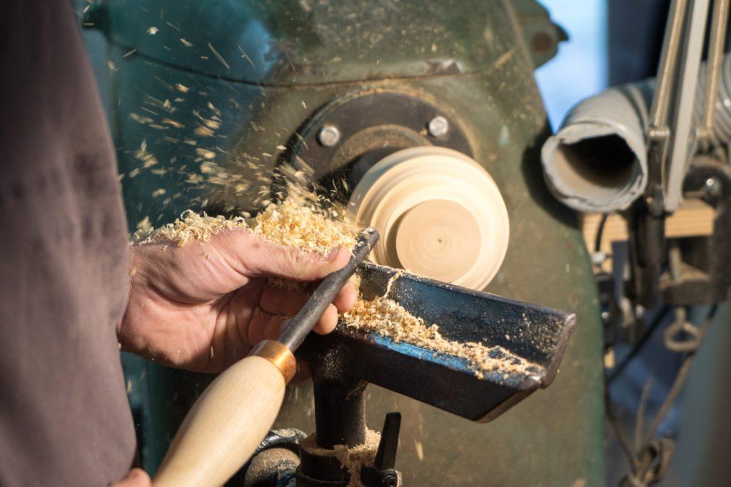 Roue tournante pour artisan de bois