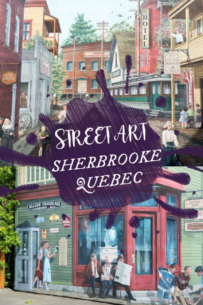 Art de rue, street art et murales à Sherbrooke, Québec, Canada