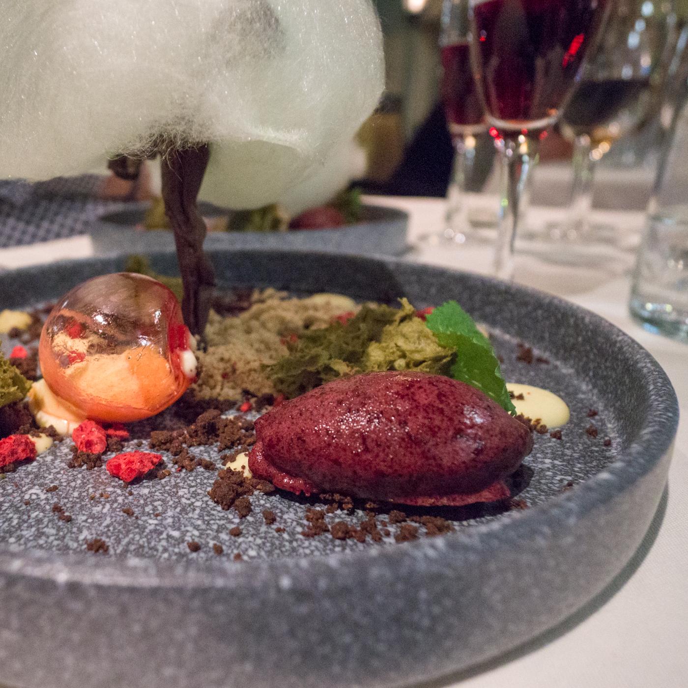 Dessert pommier et terre en hommage aux Vergers Pedneault