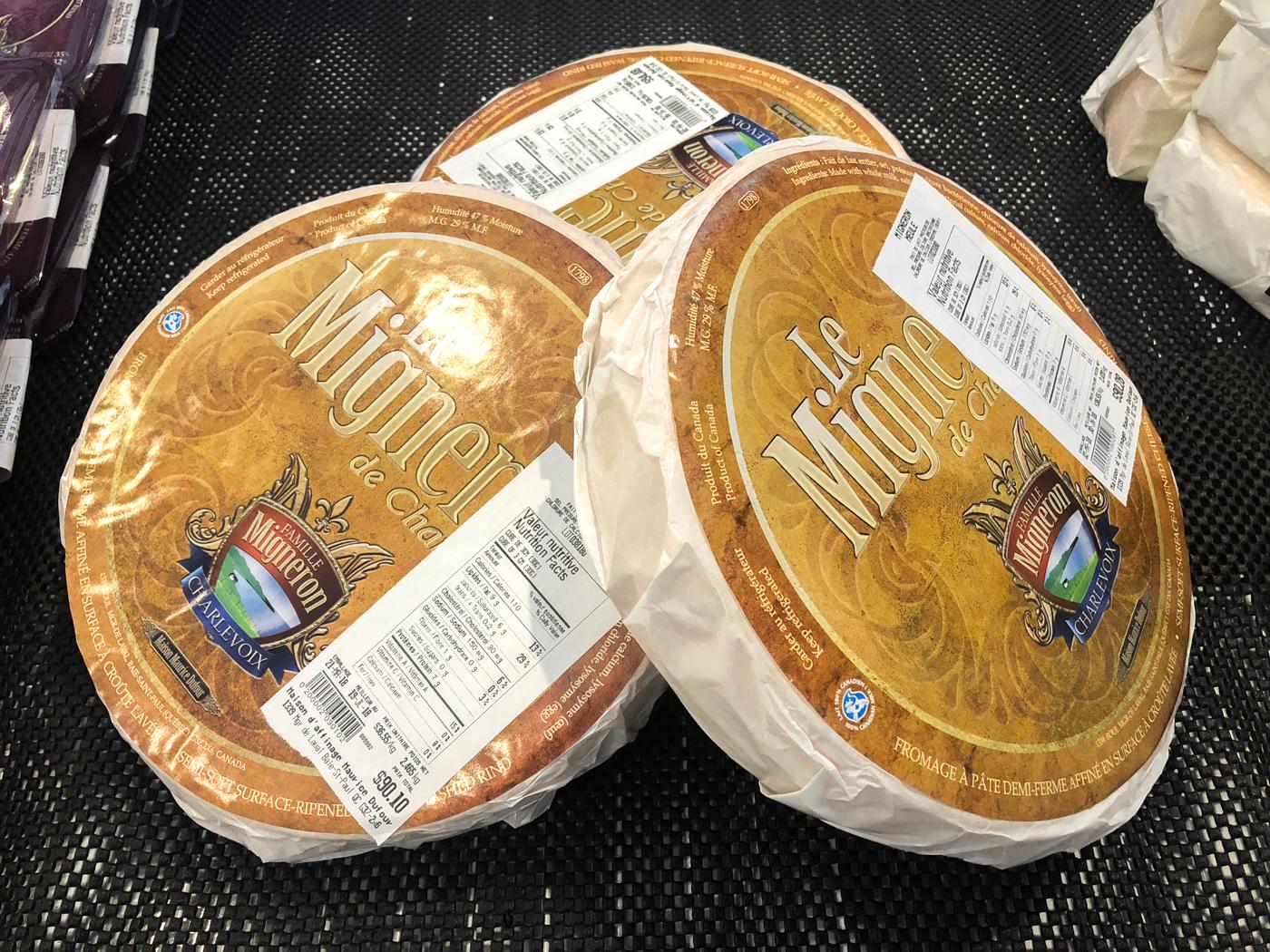 Meules de fromage Le Migneron