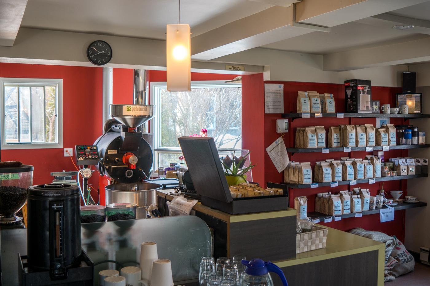 Intérieur du Café Charlevoix