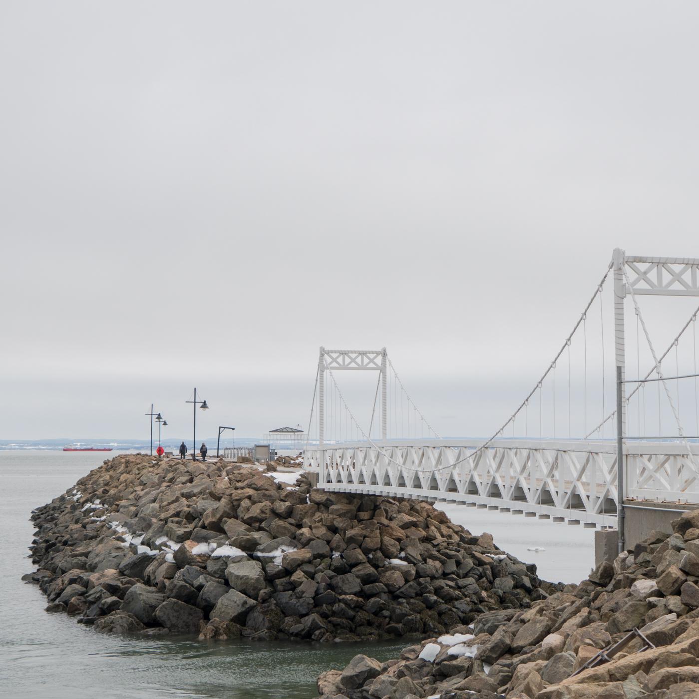 Pont piéton de Charlevoix - Voyage au Québec