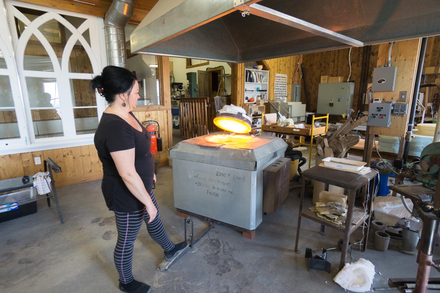 Atelier à la Verrerie La Méduse