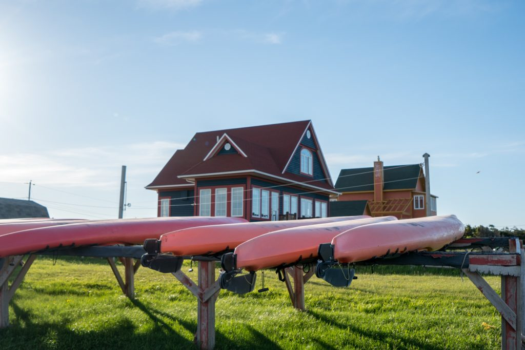 Kayaks à la plage du Parc de Gros-Cap