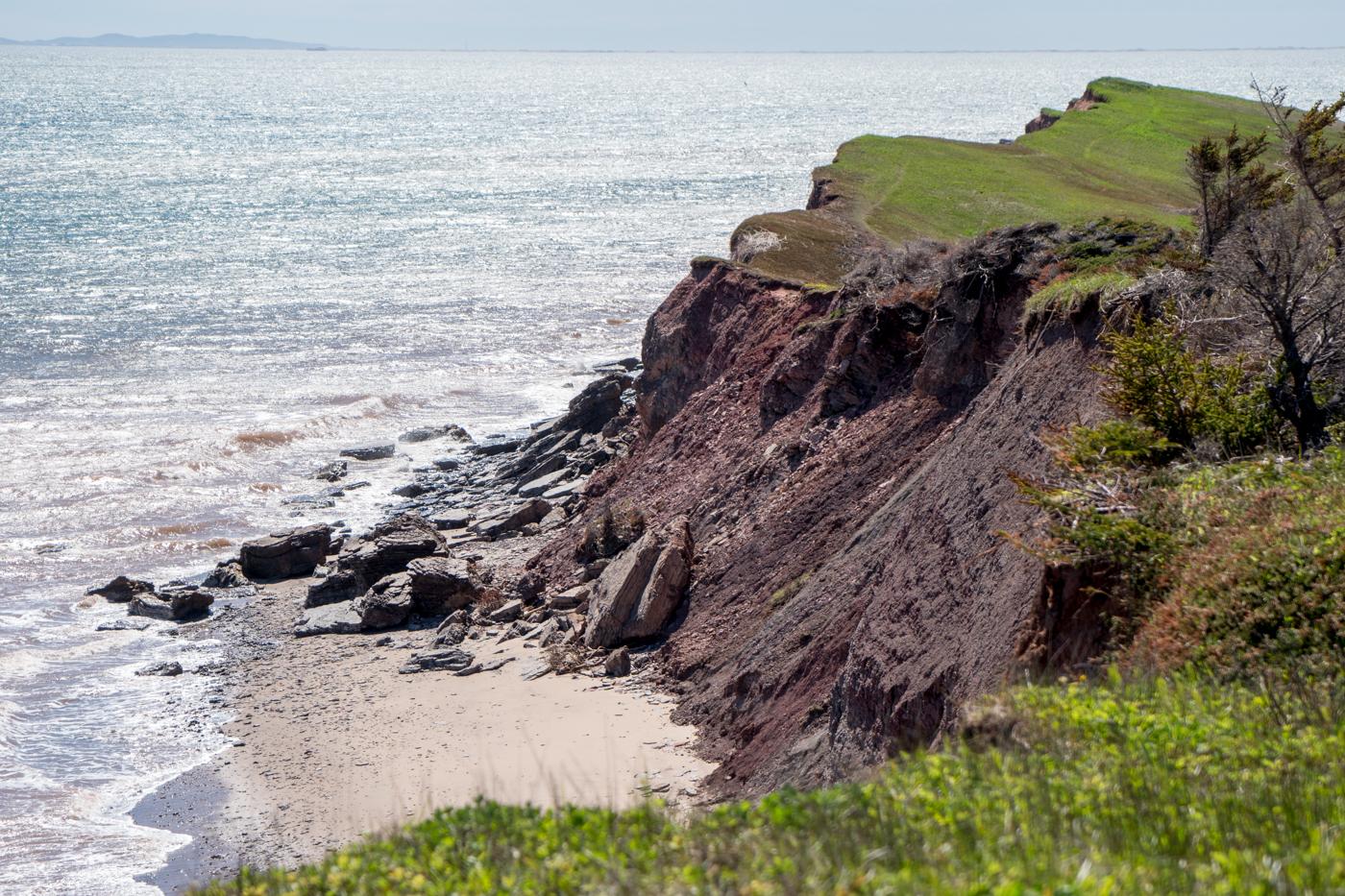 Randonnée aux îles de la Madeleine - Falaises de l'île Boudreau