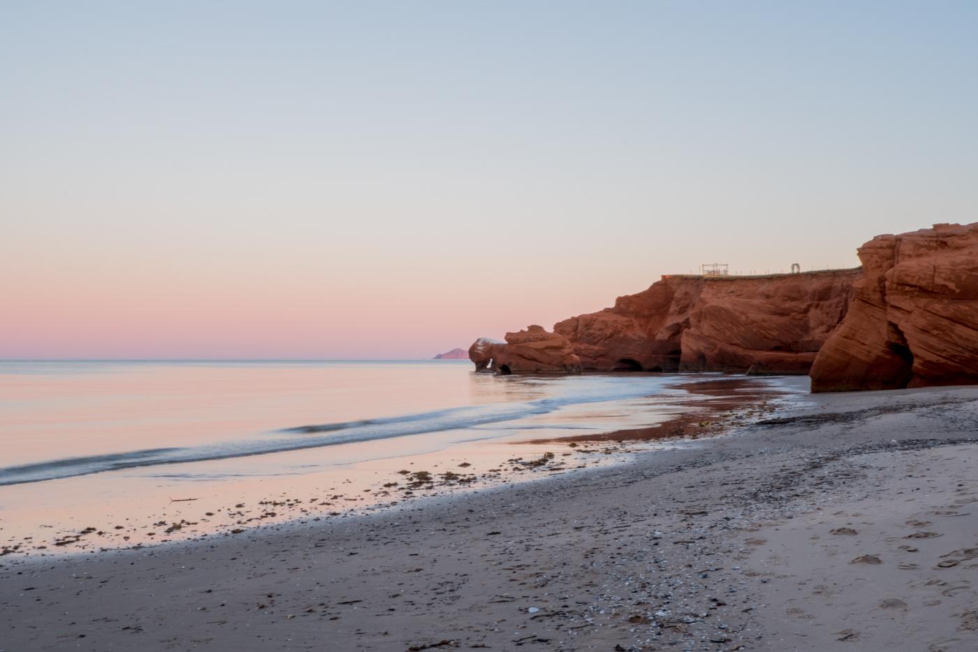 Coucher de soleil à la dune du Sud - voyage aux îles de la Madeleine