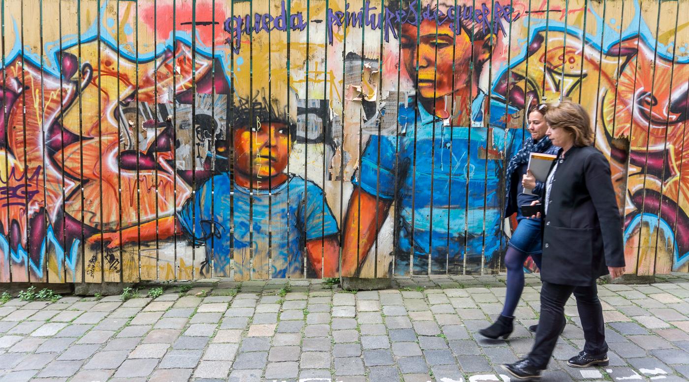 Murale de street art à Rennes