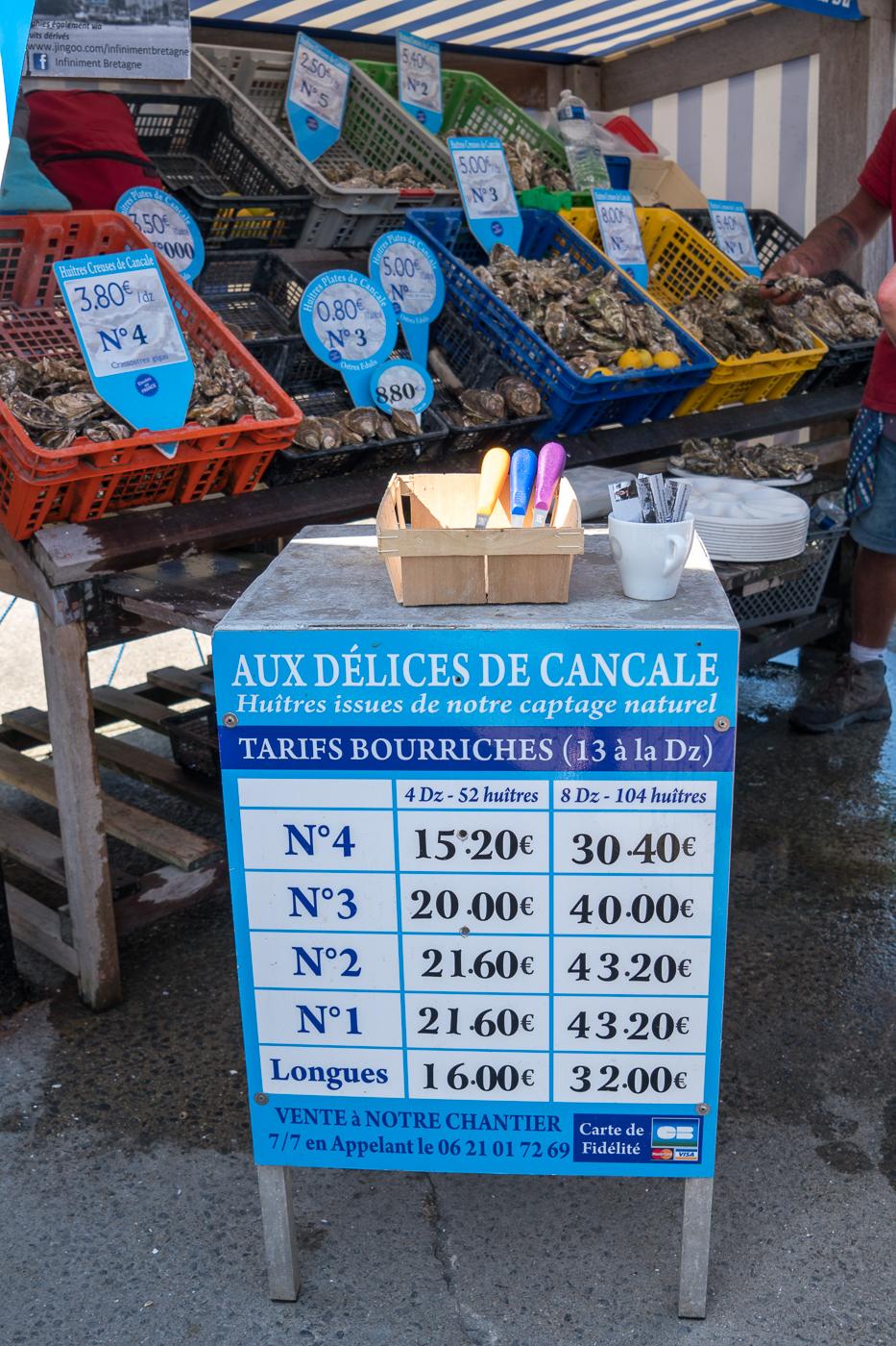 Aux délices de Cancale du marché aux huîtres