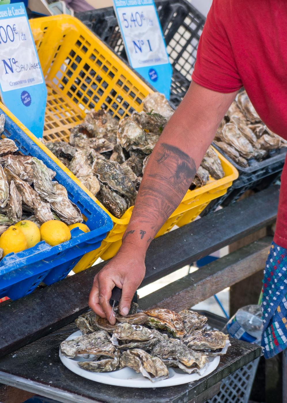 Bourriche d'huîtres de Cancale