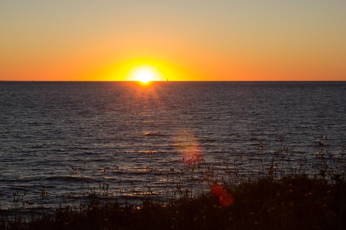 Coucher de soleil sur l'île d'Entrée - îles de la Madeleine