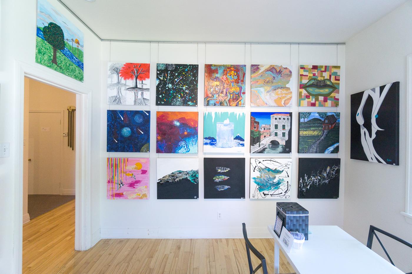 Exposition d'étudiants à la Galerie du Lac - Venise-en-Québec