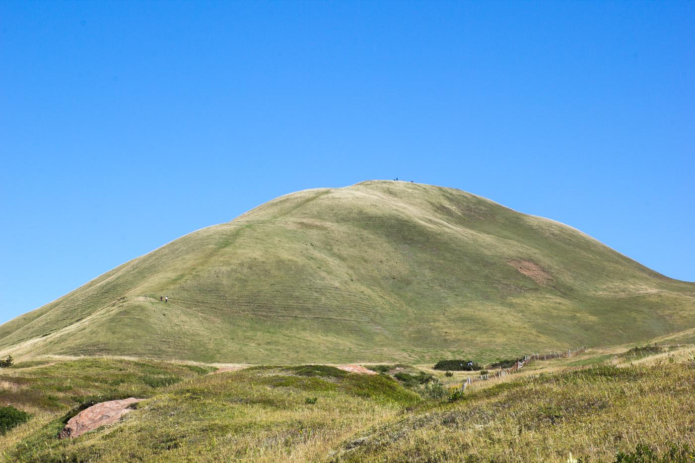 La fameuse Big Hill de l'île d'Entrée aux îles de la Madeleine