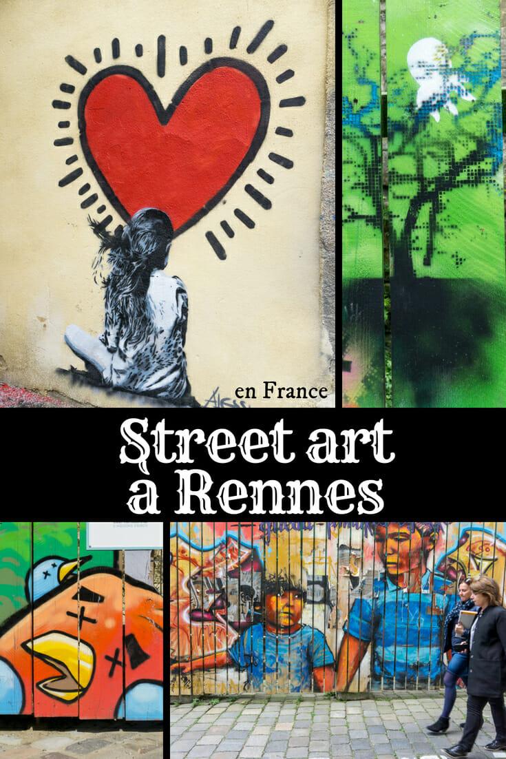 Street art à Rennes en France - Art de rue en voyage