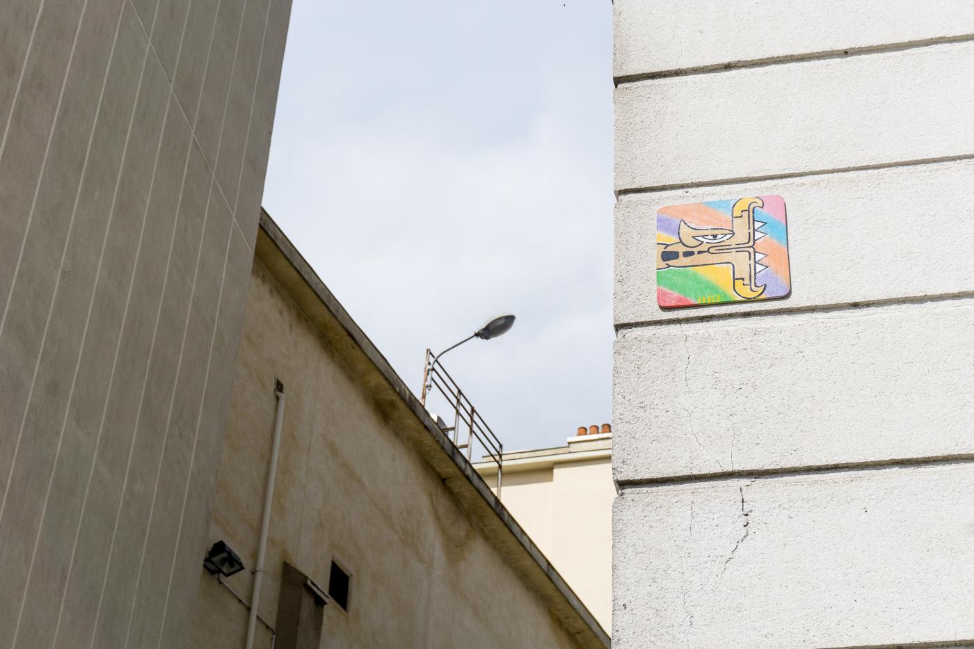 Tuiles de street art à Rennes