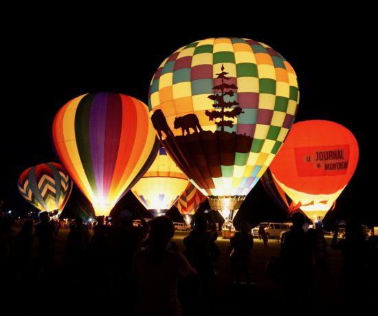 Illumination de montgolfières à St-Jean-sur-Richelieu