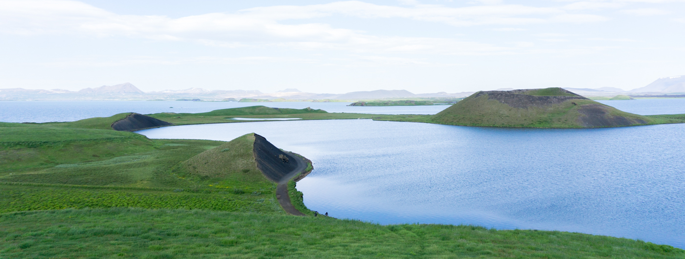 Région de Myvatn, cratères au nord de l'Islande