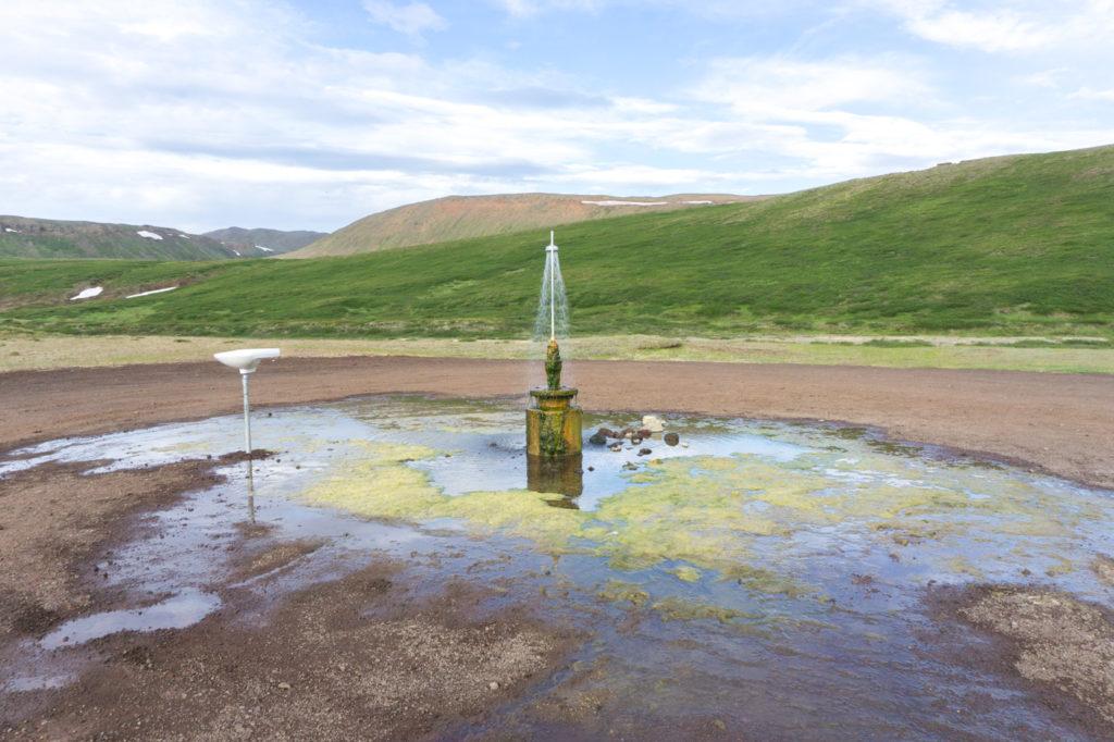 Attrait insolite - Douche en plein air au nord de l'Islande