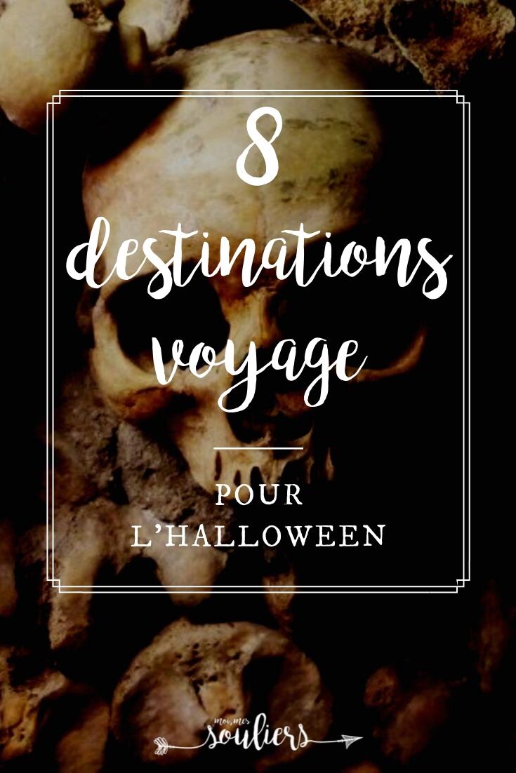 8 destinations voyage pour l'Halloween